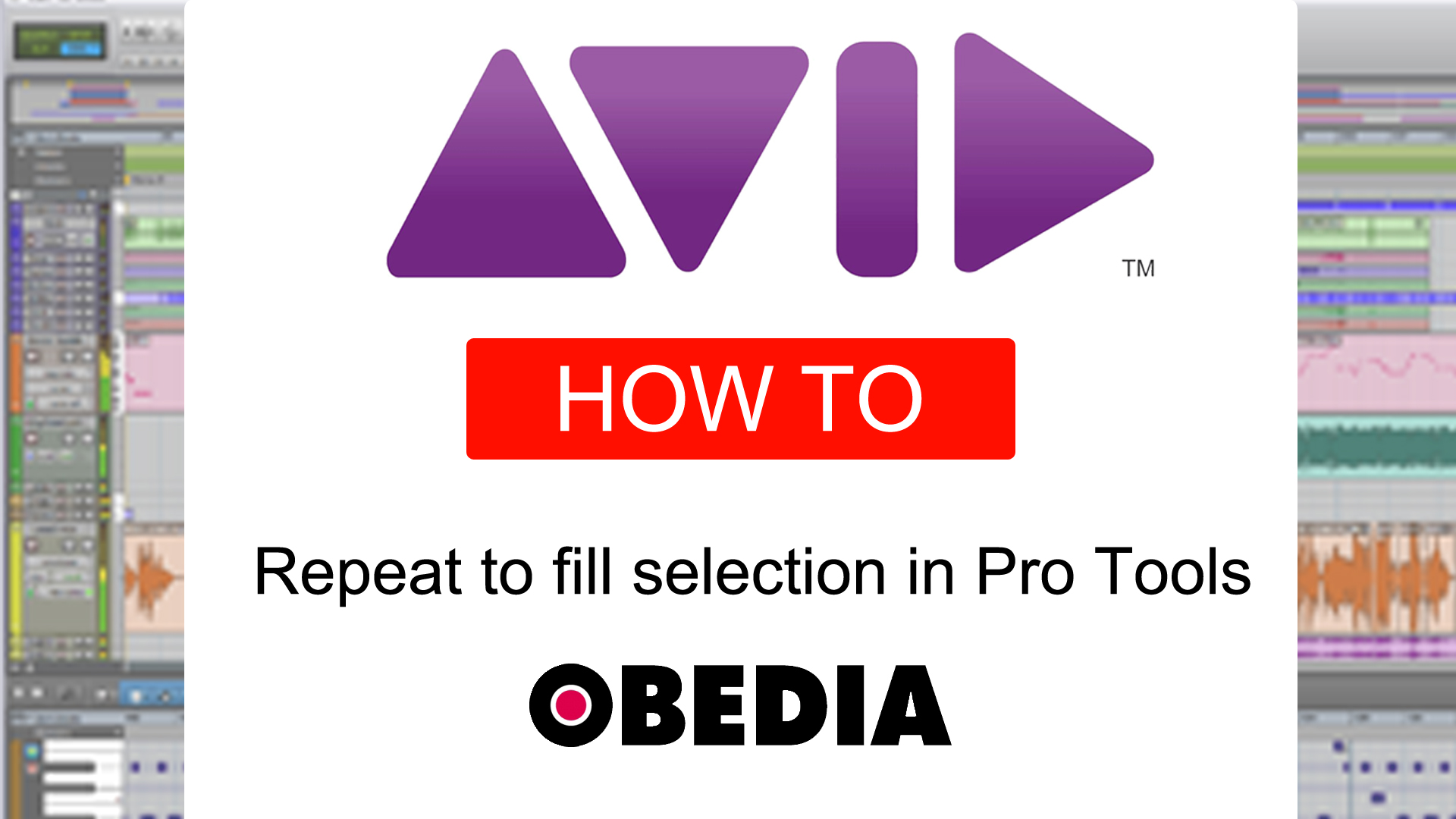 repeat to fill selection in pro tools - OBEDIA | Music Recording