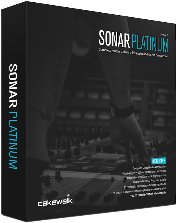 Cakewalk Sonar Platinum box