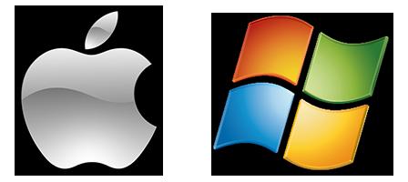 Windows Apple Logos