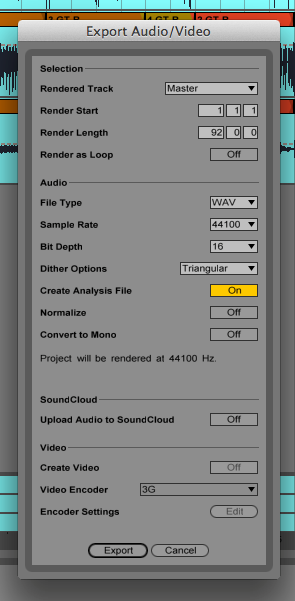 How to Bounce a Mixdown in Ableton Live
