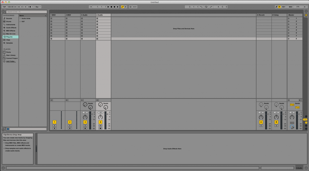 How to add Return Tracks in Ableton Live 9