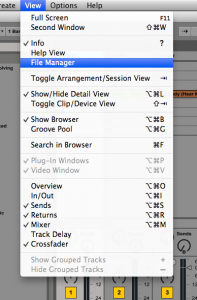 File Manager Window and Collecting Files in Ableton Live