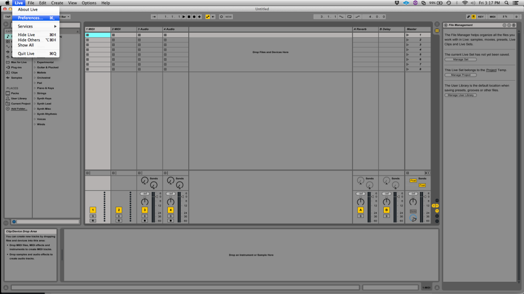 How to change language and color theme in Ableton Live