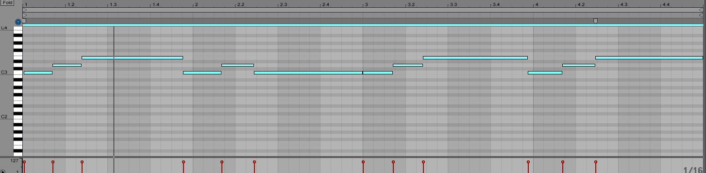 MIDI note operations in Ableton Live