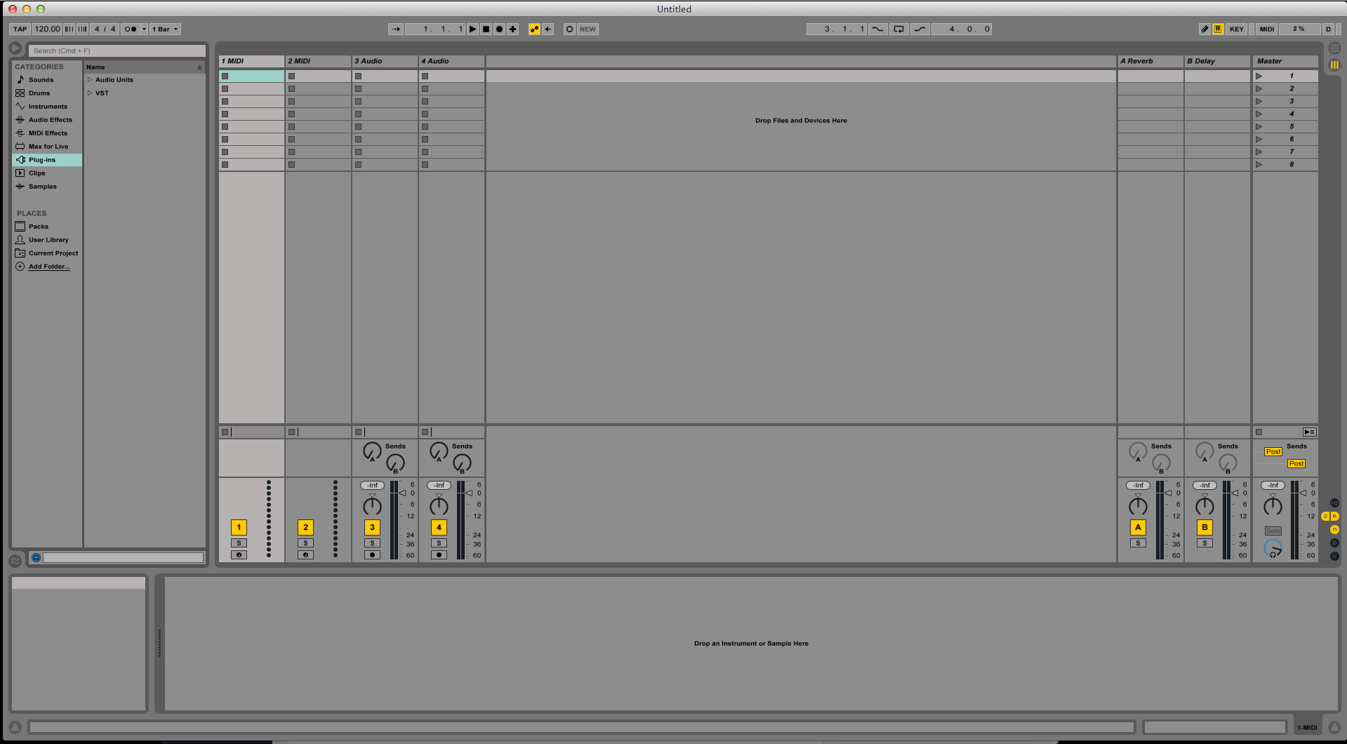 Windows in Ableton Live