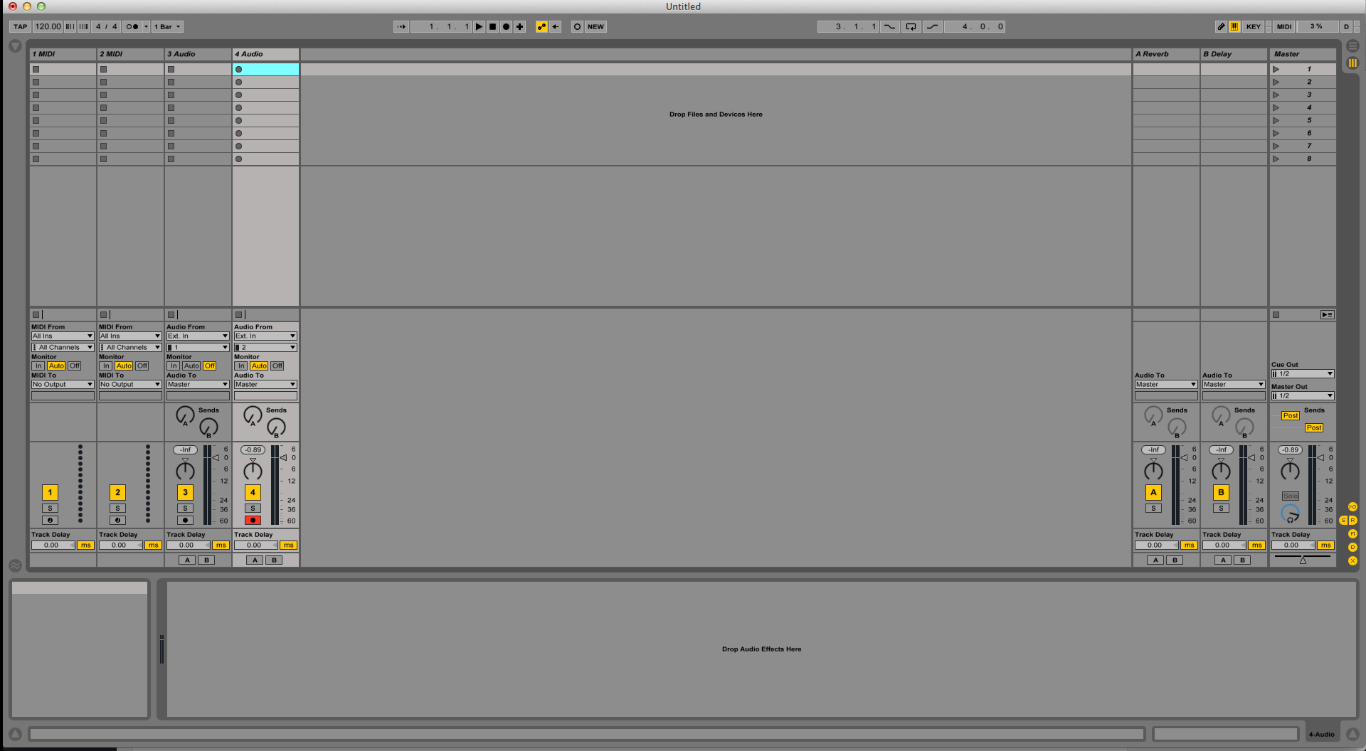 Show/Hide track views in Ableton Live Session View