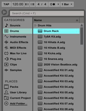 Creating a Custom Drum Rack in Ableton Live - OBEDIA | Music
