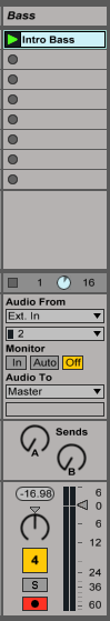 Track Monitoring Options in Ableton Live