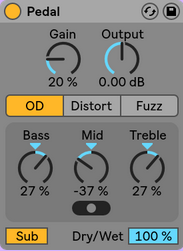 Ableton Live 10 Pedal Device