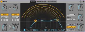 Ableton Live 10 Echo device
