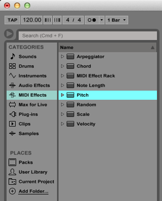 How to use the PITCH MIDI effect in Ableton Live - Ableton Live Training