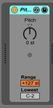 How to use the PITCH MIDI effect in Ableton Live