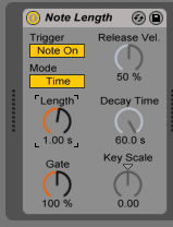 How to use the NOTE LENGTH MIDI effect in Ableton Live