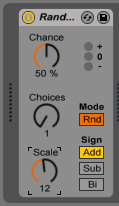 How to use the RANDOM MIDI effect in Ableton Live