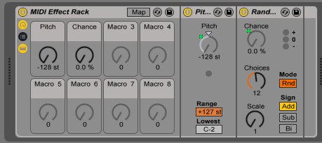 How to use the Ableton MIDI Effect Rack
