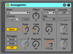 How to use Ableton Live ARPEGGIATOR MIDI Effect