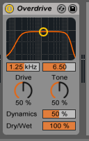 How to use the Ableton Live OVERDRIVE audio effect