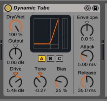 How to use the Ableton Live DYNAMIC TUBE audio effect
