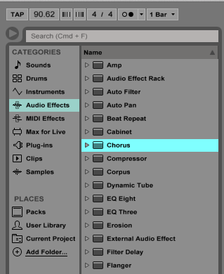How to use the Ableton Live CHORUS audio effect - OBEDIA | Music