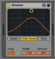How to use the Ableton Live EROSION audio effect