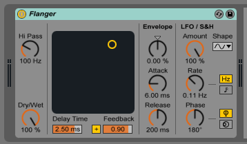 How to use the Ableton Live FLANGER audio effect