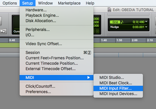 How to setup a MIDI controller in Pro Tools