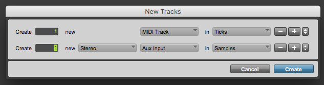 How to create a MIDI Track in Pro Tools