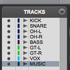 How to hide or show a track in Pro Tools