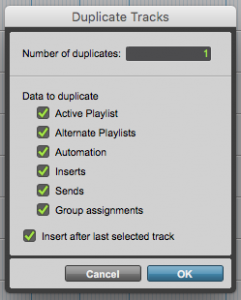 How to Duplicate a Track in Pro Tools