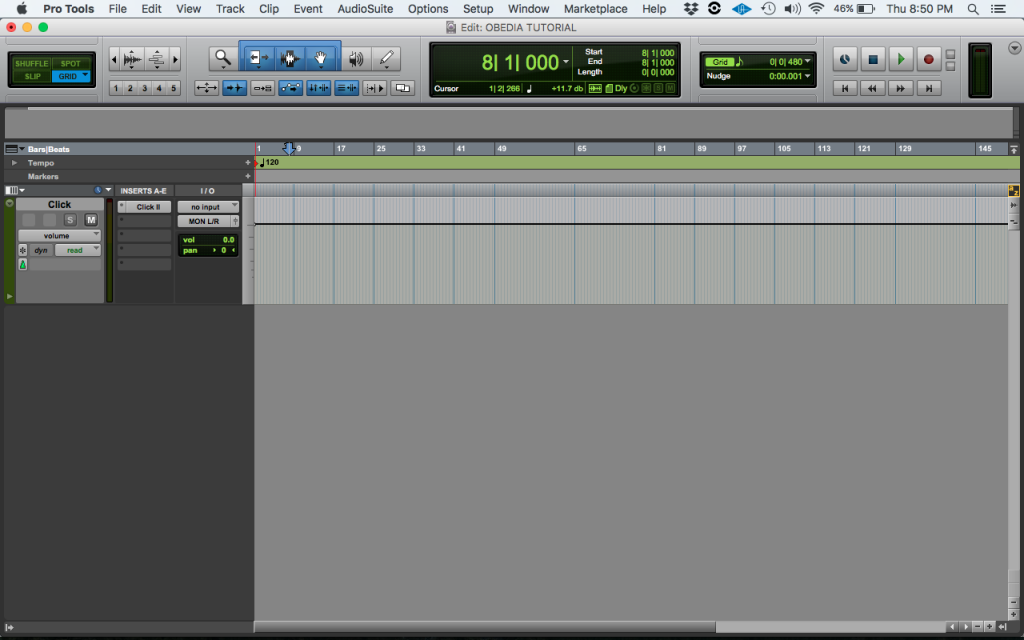 How to create a Click Track in Pro Tools