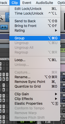 How to Create Clip Groups in Pro Tools