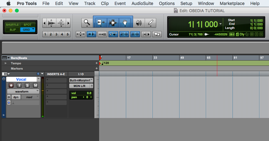 How to Record Audio in Pro Tools - OBEDIA | Music Recording