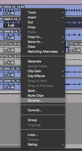How to Rename Tracks and Clips in Pro Tools