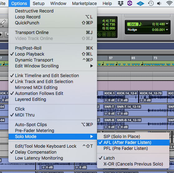 How to use Solo Modes in Pro Tools