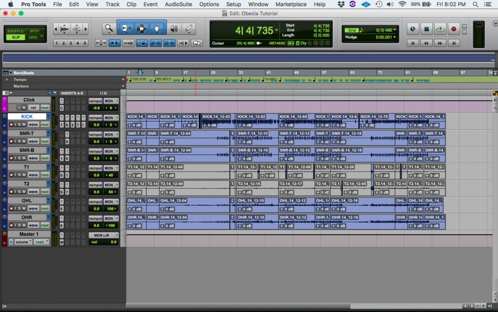 Pre Fader and Post Fader Metering in Pro Tools