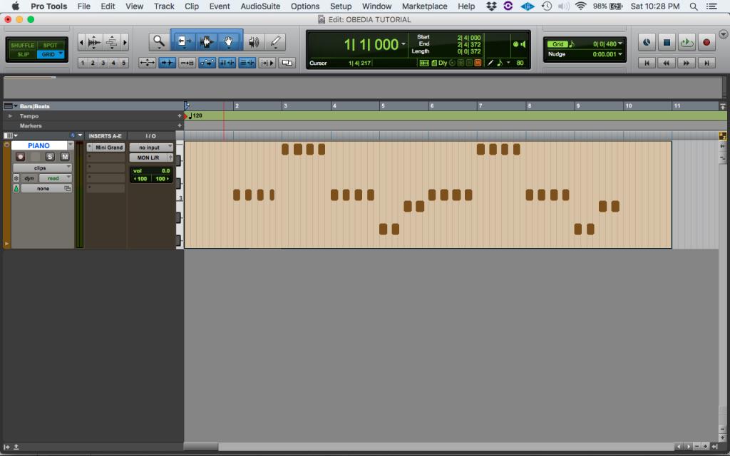 How to change MIDI velocity in Pro Tools - OBEDIA | Music