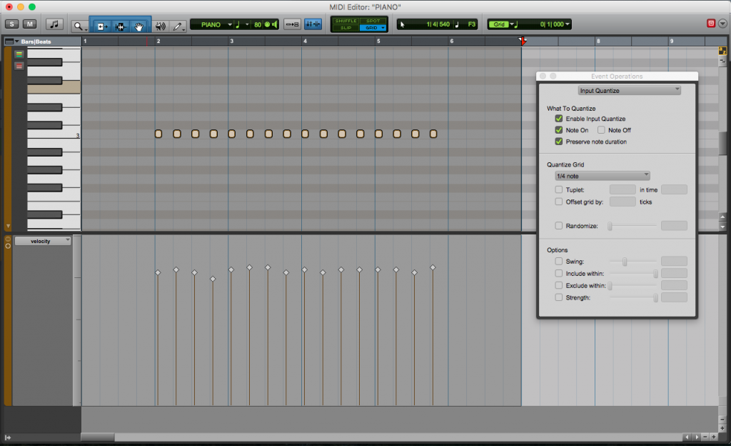 How to Input Quantize when recording MIDI in Pro Tools