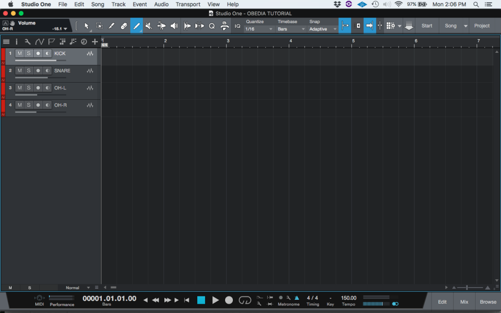 How to create a VCA fader in Studio One 4