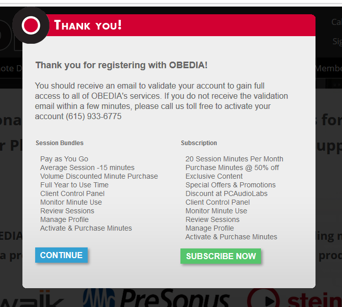 buy subscription obedia