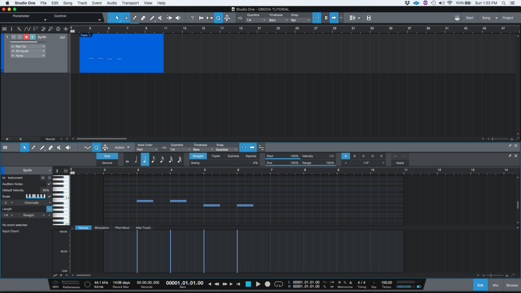 How to change the length of MIDI notes in Studio One 4