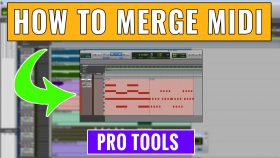 How to Merge MIDI in Pro Tools