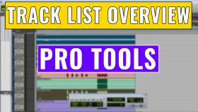 how to use the pro tools track list