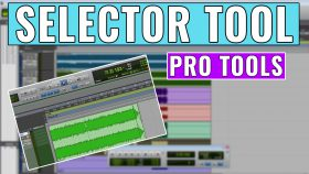 How to use the selector tool in pro tools