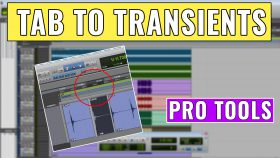 How to use Tab to Transients in Pro Tools